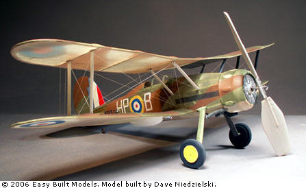 Easy Built Gloster Gladiator Free Flight Kit