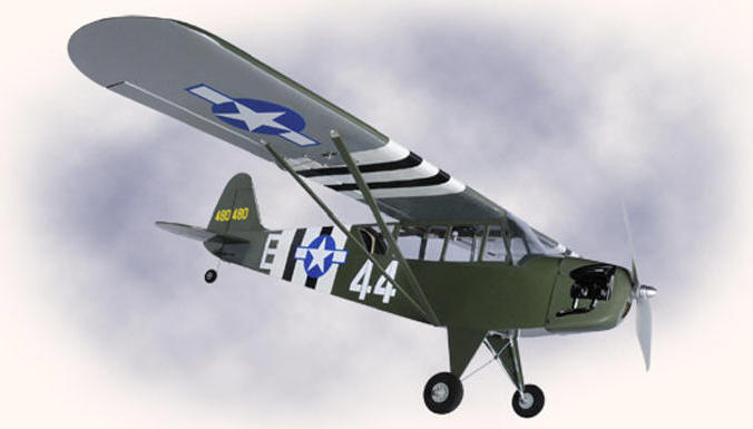 RC Airplane by Hyperion US Army L-4 Grasshopper 25E ARF