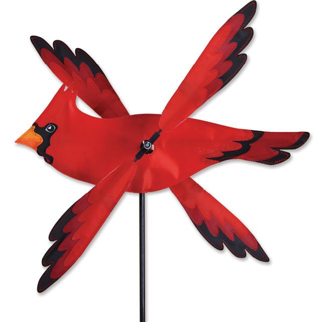 Cardinal Whirligig Red Bird Wind Spinner Premier Kites