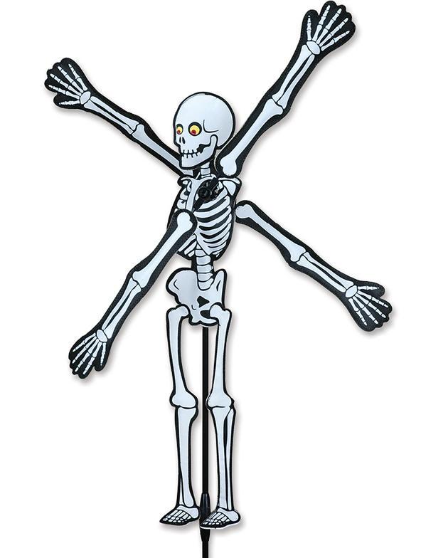 Halloween skeleton whirligig wind spinner premier kites for Wind garden by premier designs