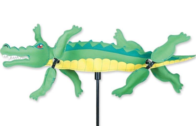 Alligator whirligig wind spinner premier length 21 gator for Garden spinners premier designs