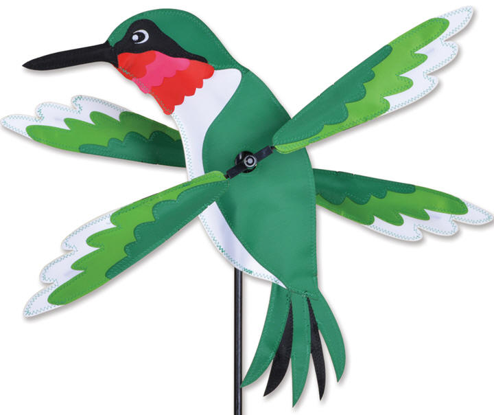 Hummingbird whirligig bird wind spinner premier kites for Garden spinners premier designs
