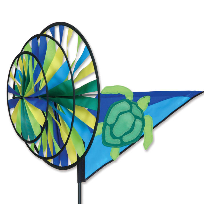 Sea turtle triple wind spinner premier yard lawn garden for Garden spinners premier designs