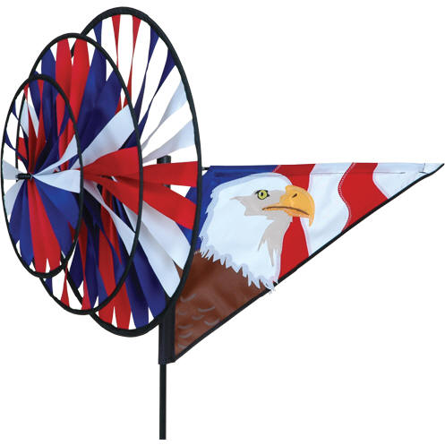 Triple EAGLE Spinner Wind Lawn Garden Yard Decor 33 x 27
