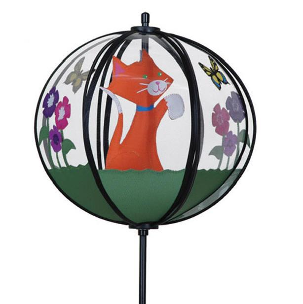 Kitty cat ball wind spinner premier kitten carousel for Wind garden by premier designs