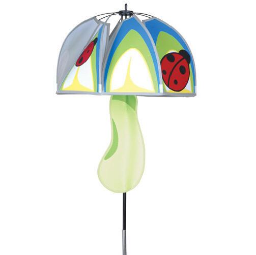 Ladybug Wind Spinner Magical Mushroom Premier 15x20 Yard
