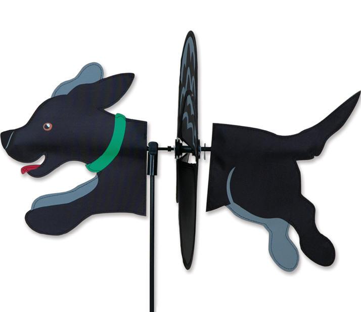 Black lab puppy dog wind spinner premier labrador garden for Wind garden by premier designs