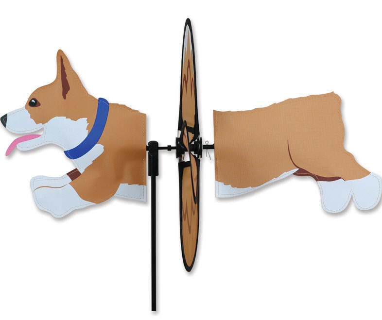 Corgi wind spinner welsh corgi puppy dog garden lawn yard for Garden spinners premier designs
