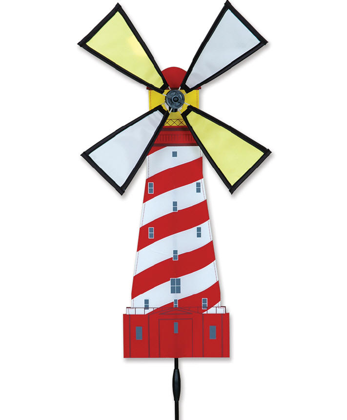 White shoal lighthouse wind spinner premier windspinner for Garden spinners premier designs