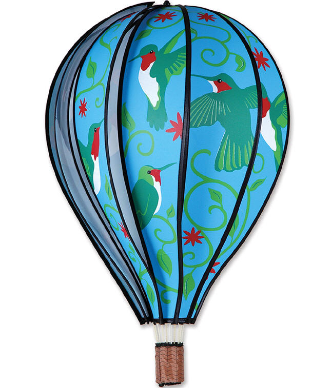 HUMMINGBIRDS Hot Air Balloon Wind Spinner 22 Premier