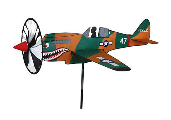 Airplane windspinner p 40 warhawk wwii fighter wind for Wind garden by premier designs