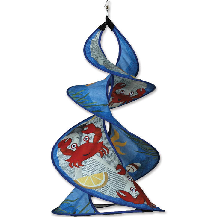 Crab feast twin wind spinner premier large 26x16 for Garden spinners by premier designs